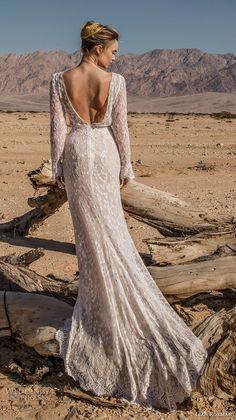 lian rokman 2017 bridal long sleeves sweetheart neckline full embellishment ellegant fit and flare wedding dress open back short train (onyx) bv -- Lian Rokman 2017 Wedding Dresses
