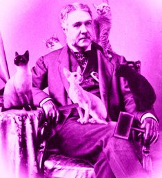 President Chester A. Arthur was THE first President to actually prepare for a career after the Presidency.  Here he is at his cat grooming graduation.  He was Washington's most successful cat groomer.