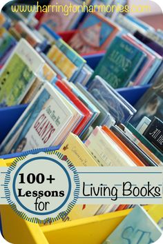 100+ Lessons for living books you may like to use in your homeschool. Links for everything from arts & crafts to living math to discussion questions.