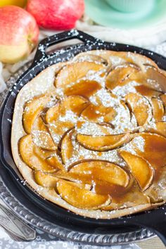 Salted Caramel Apple Dutch Baby with Apple Cider Syrup   The Gold ...