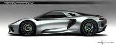 Alan Derosier - Transportation design: Porsche 918 Carrera GT