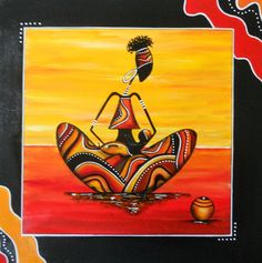 Etsy - Shop for handmade, vintage, custom, and unique gifts for everyone American Art, African Paintings, Tribal Art, Madhubani Art, Mural Art, Canvas Art Projects, Folk Art Painting, Art Inspiration, Africa Art