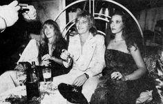 Stevie Nicks, Rod Stewart, and Bebe Buell