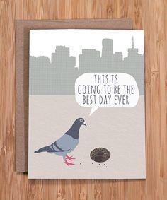 Happy birthday cards, birthday card, pigeon card
