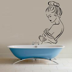 Nude Woman Wall Decals Girl Hot Model Hairdressing Beauty Salon Spa Bathroom Home Vinyl Decal Sticker Bath Art Mural Home Design Decor KG789 by WallDecalswithLove on Etsy