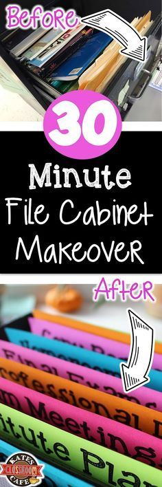 File cabinet makeover in 30 minutes for classroom organization (but would work for other uses too)
