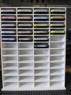Tim Holtz distress ink pads storage