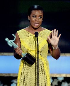 """Congrats to Uzo Aduba who plays Suzanne 'Crazy Eyes' Warren on Netflix's Orange is the New Black for winning the SAG award for Best Actress in a comedy. And for Orange is the New Black's win as Best Comedy."""