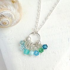 Eternity Necklace Circle Necklace Swarovski by SeaMeadowDesigns