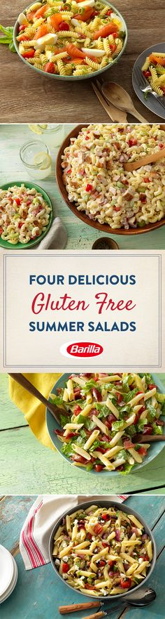 Add variety to your summer menu with these gluten free summer pasta salads, perfect for a party or a quiet evening on the patio.