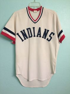 c708fa4c 1982 Waterloo (Iowa) Cleveland Indians Minor League Team Game Used Jersey