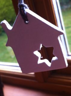 Clay house with star handmade by Grace & thymexx