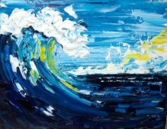 Good Vibrations Pallet Knife Wave Beginner Acrylic Painting Tutorial Abstract https://www.youtube.com/watch?v=dHoP8bD2KZo