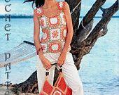 Summer Pineapple Crochet Dress Pattern with by ErenaCrochetStudio