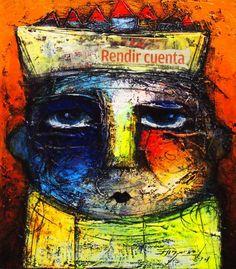 Yasiel Elizagaray YO SI LO VI 5 Oil / Mixed on Canvas https://cubanocanadian.com/collections/yasiel-elizagaray-cubanocanadian-cuban-art
