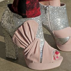 Glitter booties bring Va Voom to any outfit!