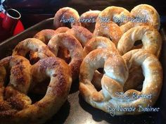 Save Print Auntie Anne's Style Soft Pretzels   Ingredients 1 Bag of Kroger Brand Frozen dough or Rhodes brand if you don't have Kroger- use 2 loaves to make about 10 pretzels (I th…