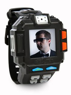 Beckett's absolutely awful (but handy!) spy gadget watch including video recording and night vision. I'm so excited about this. For story purposes, I'm going to add in a walkie-talkie feature.