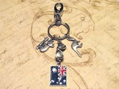 AUSTRALIA Keychain with FOUR Charms - Custom Orders Welcome