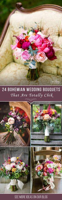 24 Bohemian Wedding Bouquets That Are Totally Chic❤ Bohemian wedding bouquets are full of whimsical details, wild flowers and feathers. This inspiration gallery of boho-chic wedding bouquets is sure to create a amazing vibe. See more: http://www.weddingforward.com/bohemian-wedding-bouquets/ #wedding #bouquets