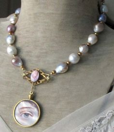 'her lover's eye' vintage assemblage necklace by TheFrenchCircus, $180.00