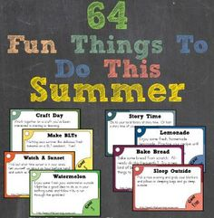 Freebie COUPON CODE: Free Summer Activity Cards - 64 Things to Do this Summer