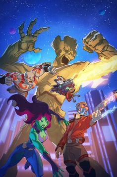 guardians of the galaxy cover 2 by a-archer on @DeviantArt