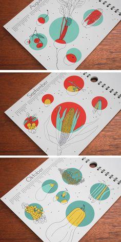 Saisonkalender - polypodium - graphic design -