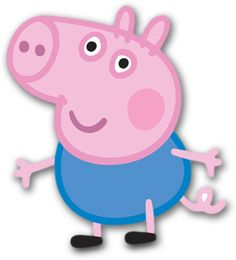 This George Pig mini cardboard cutout is a great decoration for a Peppa Pig party! Pair with our Peppa Pig cutout and pretend to be the whole Pig family! Kids love taking pictures with these larger-then-life cutouts made from durable cardboard complete wi Cumple George Pig, George Pig Cake, Peppa E George, George Pig Party, Molde Peppa Pig, Fiestas Peppa Pig, Cumple Peppa Pig, Peppa Pig Dinosaur, Peppa Pig Familie