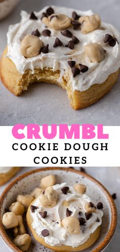 Crumble Cookie Recipe, Cookie Dough Recipes, Delicious Cookie Recipes, Fun Baking Recipes, Sweet Recipes, Baking Ideas, No Cook Desserts, Easy Desserts, Dessert Recipes