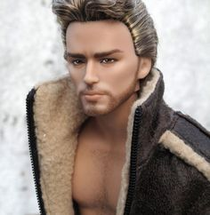 "OOAK Barbie Ken Hunger Game Finnick Repaint ""Nate"" by Park 