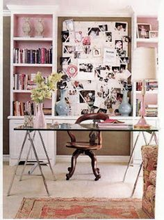 Would love to have a craft room/ office like this
