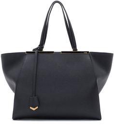Fendi Trois-Jour Grande Leather Tote Bag, Black