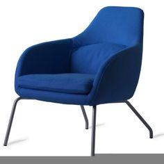 Asento, Loung stol i blå stof, Bent Hansen
