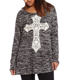 Another great find on #zulily! Black Crochet Cross Tee #zulilyfinds