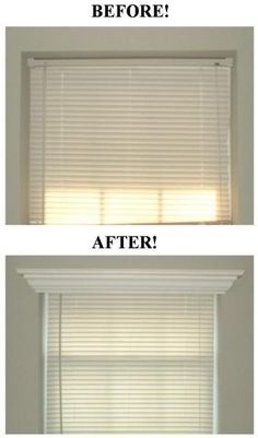Add crown molding to the tops of windows. I love this idea!!