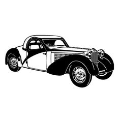 Classic Car // FLONZ Clear stamp clingy acrylic by flonz on Etsy