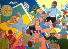 Carlos Páez Vilaró - Artista uruguayo, (pintor, ceramista, escultor, muralista, escritor, compositor y constructor uruguayo) Montevideo 1923 - Punta Ballena 2014 (Uruguay)