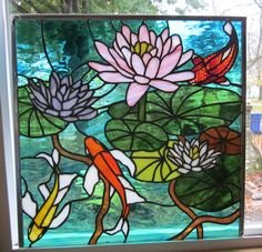 Stained Glass Heirlooms: Lotus Fantail Koi