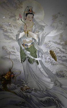 Su embroidery work of Avalokitesvara Bodhisattva