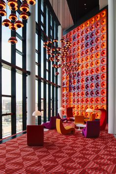 danismm: The interior design by Verner Panton of the office of the German magazine Der Spiegel in Hamburg. In 1969 the famous German newspaper decided to move to a new modern headquarter. via gorgonia Commercial Interior Design, Best Interior Design, Commercial Interiors, 1980s Interior, Design Hotel, Restaurant Design, Vintage Restaurant, Interior Architecture, Interior And Exterior