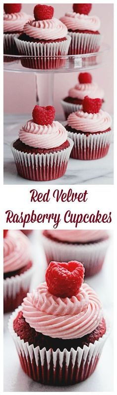 Red Velvet Raspberry Cupcakes | Grandbaby Cakes