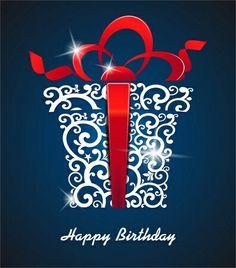 happy birthday, joyeux anniversaire, bleu, argent, rouge blanc, cadeau