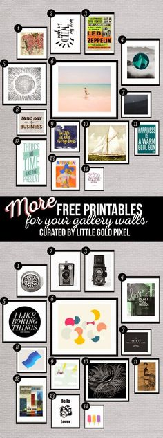 FREE PRINTABLES // LITTLE GOLD PIXEL - Oh So Lovely Blog