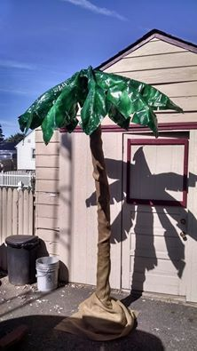 How To Make A Palm Tree Out Of An Umbrella My Stuff Palm Tree