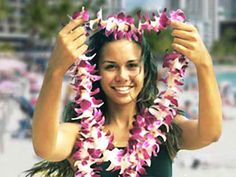 Flower Lei Greeting at the Maui Airport