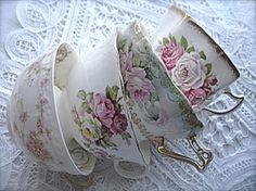 Pretty floral teacups