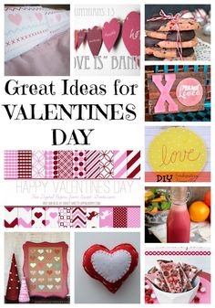 great ideas for valentines day. Valentines projects, valentines recipes, valentines ideas.
