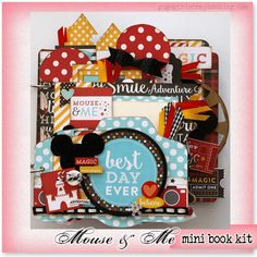 Gogo Girl Scrapbooking Mini Album Kit Club Paper Crafting Projects with Instructions by Traci Goshen Disney Scrapbook Pages, Mini Scrapbook Albums, Scrapbook Paper Crafts, Scrapbooking Layouts, Mini Albums, Mini Album Scrap, Minnie Mouse, Creative Memories, Disney Crafts