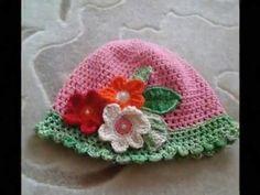Modelos de Gorros para bebe tejido a crochet